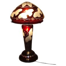 "Beautiful table Lamp-""Dreams of butterflies""-Early 20th Century"