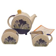 Wedgwood Bonjour Blue Crocus  -Clarice Cliff collection- tea set.