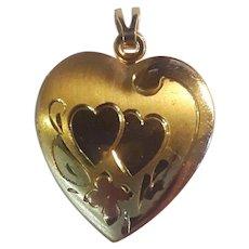 Heart locket gold filled 1950's