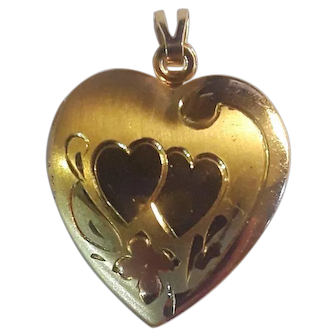 Heart locket gold filled 1950's