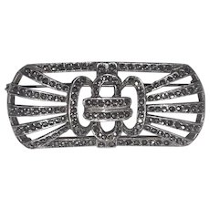 Marcasite Sterling Art Deco Pin