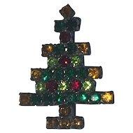 All original 1950's Diamante Christmas Tree Brooch 35mm x 30mm