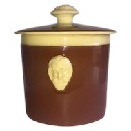 Turn of Last Century Tobacco Jar Marked 9F Possibly French 90mm x 100mm