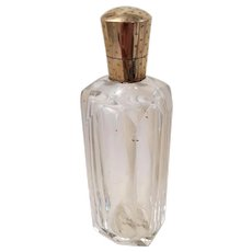 Antique Dutch Victorian Cut Crystal and 14k Gold Perfume Bottle