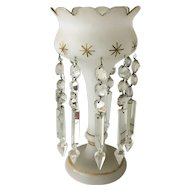 Vintage Glass Lustre with Cut Crystal Tassels