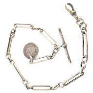 1894 Henry Pope Sterling Silver Pocket Watch Chain