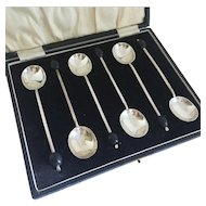 1924 Cooper Brothers & Sons Ltd Sterling Silver English Demitasse Coffee Spoon Set
