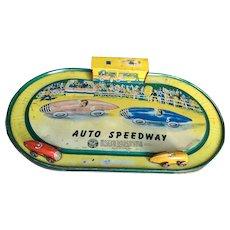 Automatic Toy Company Auto Speedway Tin Toy