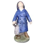Royal Copenhagen Figurine Boy with Umbrella #3556