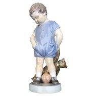 Royal Copenhagen 'Boy With Teddy Bear' Porcelain Figurine #3468