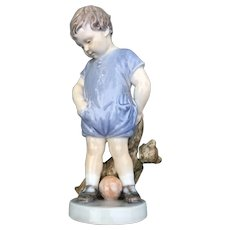 Royal Copenhagen 'Boy With Teddy Bear' Porcelain Figurine #3468