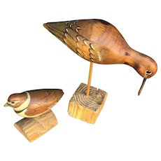 Will and Kay Lake Signed Hand Carved Bird Decoy Collection