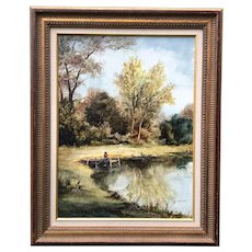 Jan Ward Calaski Signed Original Acrylic Painting