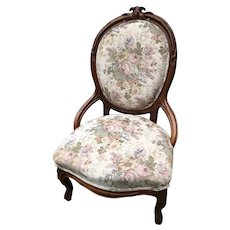 Victorian Upholstered Parlor Chair