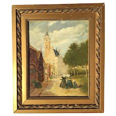 Charles Dumont Dutch Scene Oil on Board