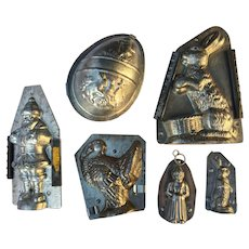Vintage  Tin Metal Chocolate Mold Collection (6)
