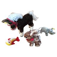 Vintage Steiff Stuffed Animal Collection