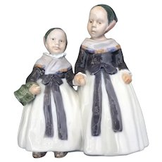 "Porcelain figurine ""Amager girls"". Denmark, Royal Copenhagen #1316"