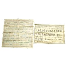 Two 19th Century samplers worked by same child dated 1851 and 1854