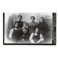 2 cabinet photos of members of same family late 19th century Eastbourne Photographic Co. London