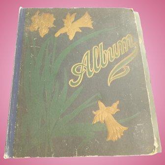 Early 20th century scrap book - antique & vintage scraps