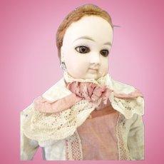 "Antique Jumeau French fashion doll 13"" original dress & wig + provenance"