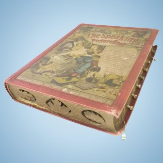 """RARE antique childrens'  """"The Speaking Picture Book"""" published 1895"""