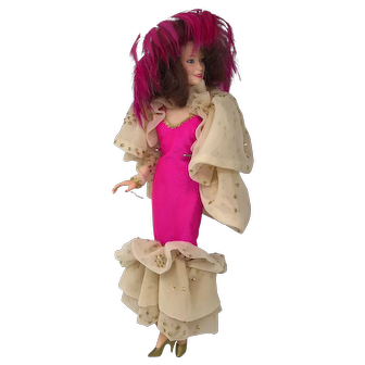 World Doll in Pink and Gold Dress