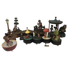 Set of 11 Vintage Music Boxes