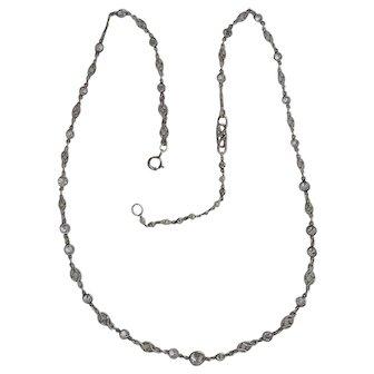 Platinum Diamond Necklace C-1910 2.5 tcw