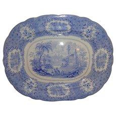"Large Antique 19th.c ""Oriental"" Blue Pattern Platter"