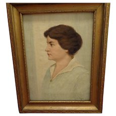 Original Oil on Canvas Portrait Painting by James C. Magee Listed Artist (1846-1924)