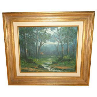 1938 Victor Shearer Oil on Canvas Landscape Painting, Listed Artist (1872-1951)