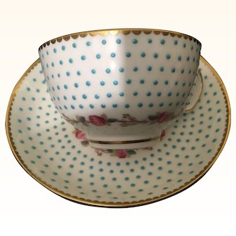 19th Century Fords China Teacup ans Saucer made for T. Goode & co