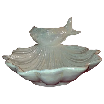 Vintage sea shell scallop and fish platter home decor Rare