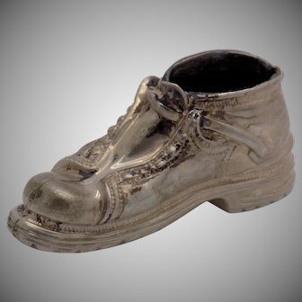 75g/2.6-oz. Vintage Genuine Silver Italian Made Shoe Miniature, Figurine, Stamped