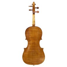 A violin by George Barton, London, 1780, in baroque/classical setup