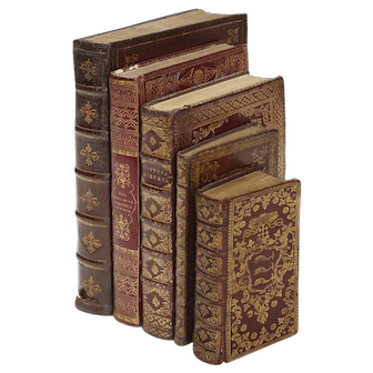 Bindings for cardinals: five volumes, Italy,18th century