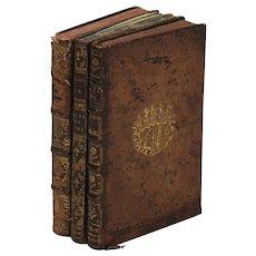 Three French books and music,18th century