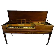 Rare Georgian square piano by Wilsons of Scarborough and Whitby, c1790-1800