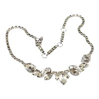 Vintage Sterling and rhinestone Jay Flex necklace