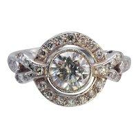 Bespoke Platinum and Diamond Halo Ring