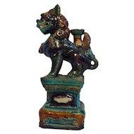 Vintage Fu Lion Porcelain Figure