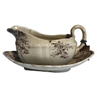 Alfred Meakin English Transferware Gravy Boat