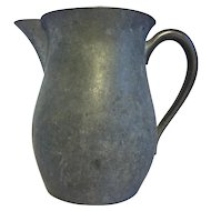 Vintage Colonial Pewter Pitcher Patina Primitive
