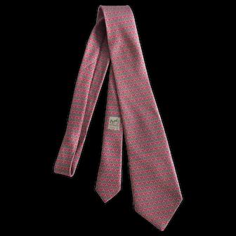 Hermes Paris Pale Red Necktie