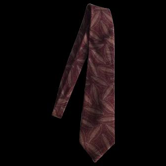 Ermenegildo Zegna Maroon Silk Necktie