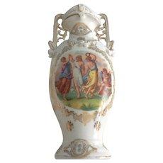 """Vintage Austrian Porcelain Figural Vase 9 1/2"""" Victoria Carlsbad"""