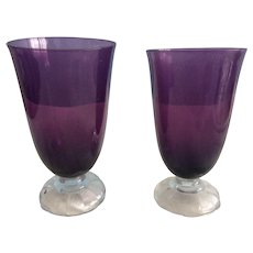 Wine Glasses Lovely Vintage Purple from the 1940s set of 10