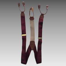 Brooks Brothers Suspenders/Braces in Solid Maroon